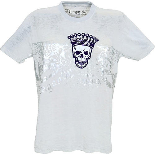 Dragonfly Clothing Company Crowned Skull Burnout Men's T-Shirt