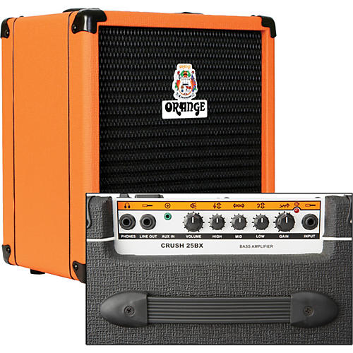 Orange Amplifiers Crush PiX CR25BX 25W 1x8 Bass Combo Amp