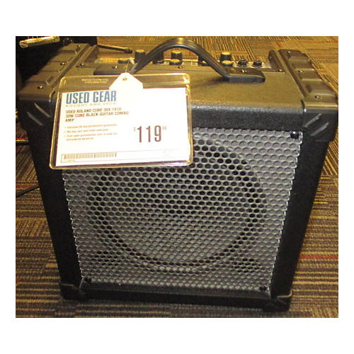 Roland Cube 30X 1X10 30W Cube Black Guitar Combo Amp