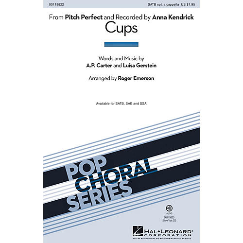 Hal Leonard Cups (from Pitch Perfect) SSA by Anna Kendrick Arranged by Roger Emerson