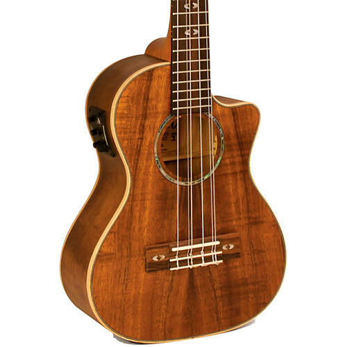 Lanikai Curly Koa Series CK-6EK 6-String Tenor Ukulele with Fishman Kula Electronics-thumbnail