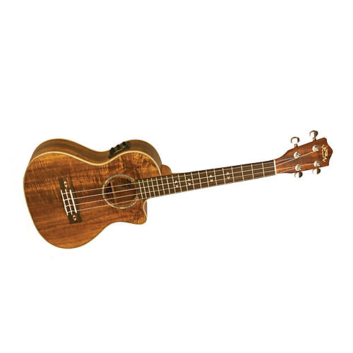 Lanikai Curly Koa Series CK-TEK Tenor Ukulele with Fishman Kula Electronics