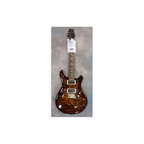 PRS Custom 24 Amber Quilt Solid Body Electric Guitar-thumbnail