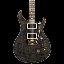 PRS Custom 24 Carved Figured Maple 10 Top with Gen 3 Tremolo Solid Body Electric Guitar Gray Black