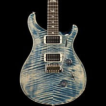 PRS Custom 24 Carved Figured Maple Top with Gen 3 Tremolo Solid Body Electric Guitar Faded Whale Blue