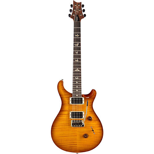 PRS Custom 24 Carved Flame Maple 10 Top with Nickel Hardware Solidbody Electric Guitar Vintage Sunburst