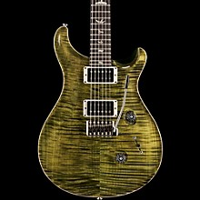 Custom 24 Carved Flame Maple Top with Nickel Hardware Electric Guitar Jade