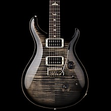 Custom 24 Flame Top Electric Guitar with Pattern/Thin Neck Charcoal Burst