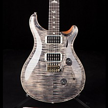 Custom 24 Flame Top Electric Guitar with Pattern/Thin Neck Charcoal