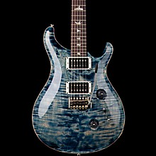 Custom 24 Flame Top Electric Guitar with Pattern/Thin Neck Faded Whale Blue