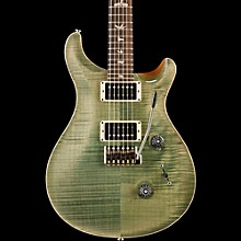 Custom 24 Flame Top Electric Guitar with Pattern/Thin Neck Trampas Green
