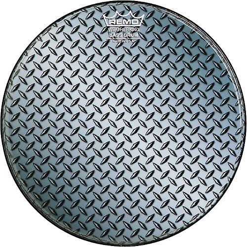 Remo Custom Diamond Plate Graphic Bass Drum Head  20 in.