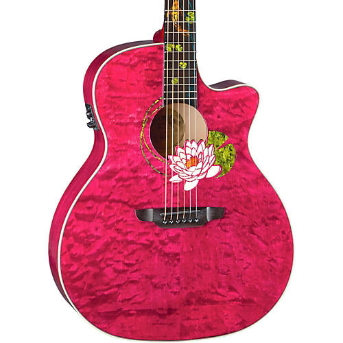 Luna Guitars Custom Grand Concert Acoustic Electric Guitar-thumbnail