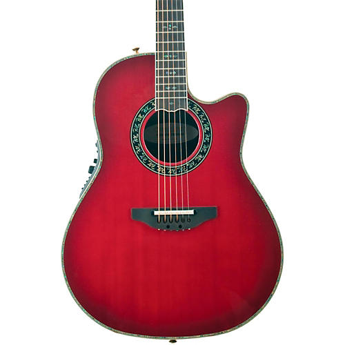 Ovation Custom Legend C2079 AX Deep Contour Acoustic-Electric Guitar Cherry Cherry Burst