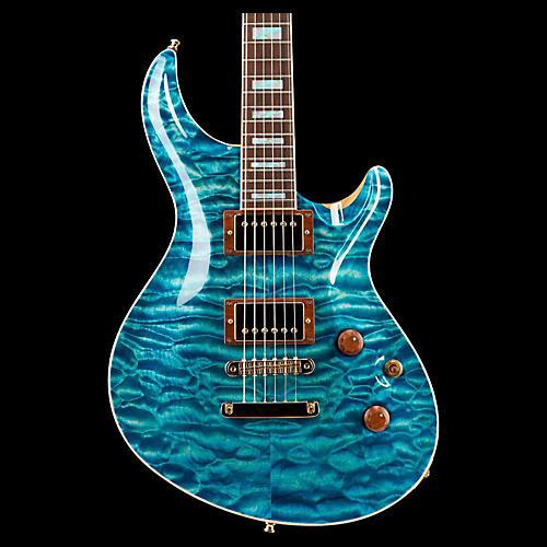 ESP Custom Mystique Electric Guitar See-Thru Blue
