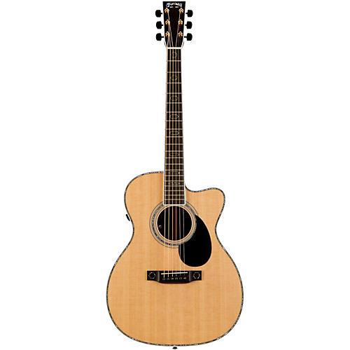 Martin Custom OMC-Aura Cutaway Orchestra Model Acoustic-Electric Guitar