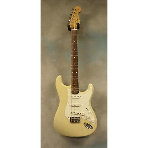 Fender Custom Shop 50s Strat Hardtail RW Closet Classic White Blonde Solid Body Electric Guitar-thumbnail