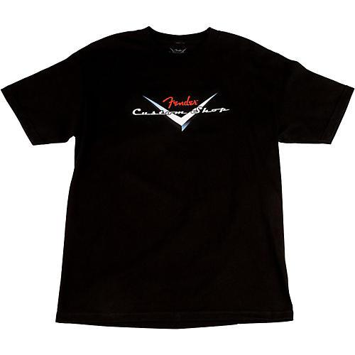 Fender Custom Shop Original Logo T-Shirt Black Medium