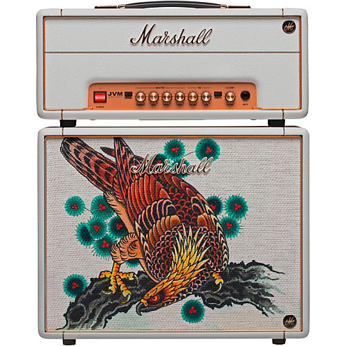 Marshall Custom Tattoo Tutti Serra Stack JVM-1H 1W Tube Guitar Head and 1x10 Cab-thumbnail