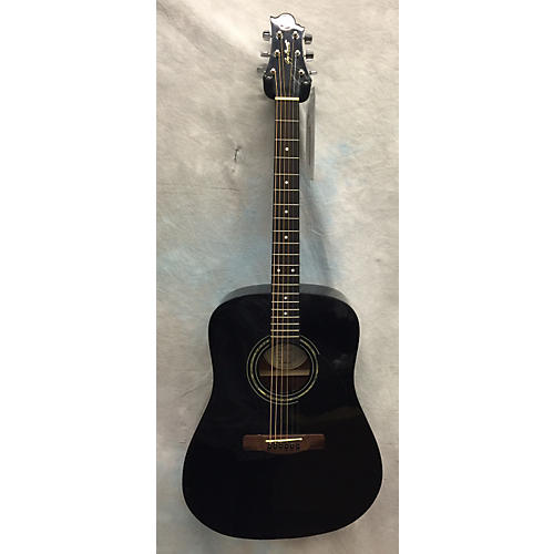 Greg Bennett Design by Samick D-1-bK Acoustic Guitar Black