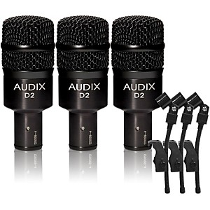 Audix D-2 Dynamic Microphone 3 Pack by Audix