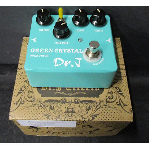 Dr. J Pedals D-50 Green Crystal Overdrive Effect Pedal-thumbnail
