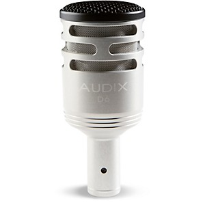 Audix D-6 Sub Impulse Kick Microphone - Brushed Aluminum Special Edition by Audix