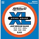 D'Addario EJ22 Nickel Jazz Medium Electric Guitar Strings