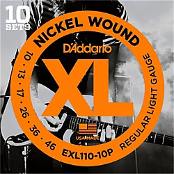 D'Addario EXL110 Nickel Light Electric Guitar Strings 10-Pack (EXL110-10P)