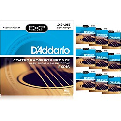 D'Addario EXP16 Acoustic Strings 10 Pack