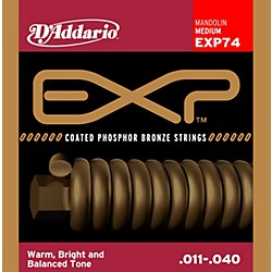 D'Addario EXP74 Coated Phosphor Bronze Medium Mandolin Strings (EXP74)