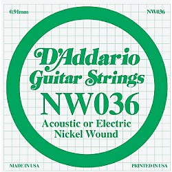 D'Addario Nickel Wound Single String (NW036)