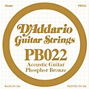D'Addario PB022 Phosphor Bronze Single Acoustic Guitar String