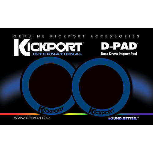 Kickport D-Pad Bass Drum Impact Pad 2-Pack-thumbnail