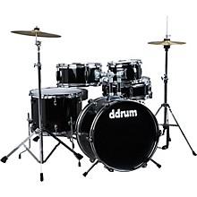 Ddrum D1 5-Piece Junior Drum Set with Cymbals Level 1 Midnight Black