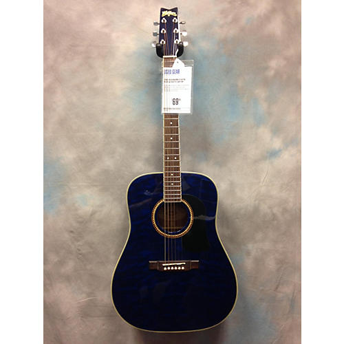 Washburn D100TBL Blue Acoustic Guitar