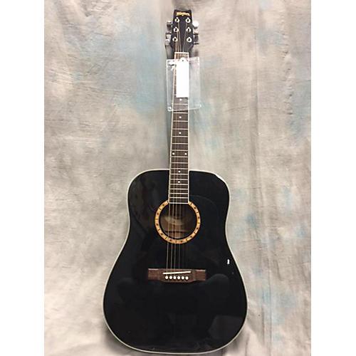 Washburn D100dlbk Acoustic Guitar-thumbnail