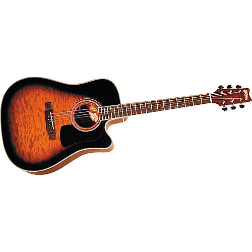 Washburn D10CEQ Quilted Acoustic-Electric Guitar