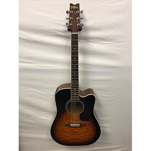 Washburn D10CEQ\SB Acoustic Electric Guitar-thumbnail