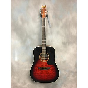 Pre-owned Washburn D10QSB SB Acoustic Guitar by Washburn