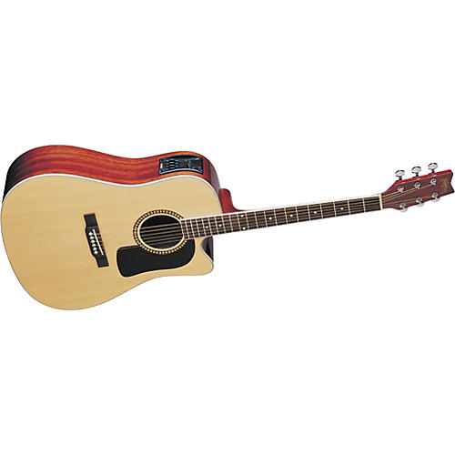 Washburn D10SCE Cutaway Acoustic-Electric Guitar-thumbnail