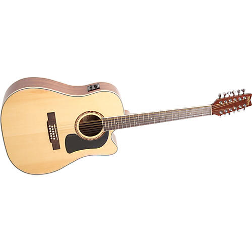 Washburn D10SCE12 12-String Dreadnought Acoustic-Electric Guitar-thumbnail