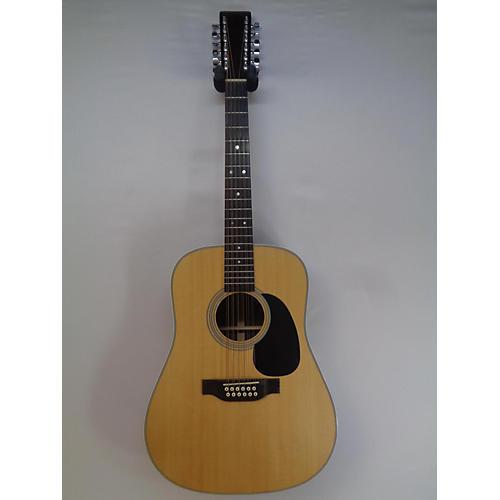 used martin d1228 12 string acoustic guitar natural guitar center. Black Bedroom Furniture Sets. Home Design Ideas