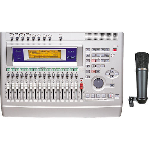 Korg D1600 16-Track Digital Recorder with MXL2001 Microphone