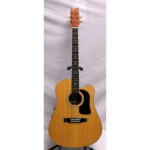used washburn d17sce acoustic electric guitar natural guitar center. Black Bedroom Furniture Sets. Home Design Ideas