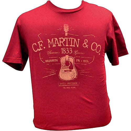 Martin Guitar Shirts : martin d28 logo t shirt cardinal xxl guitar center ~ Vivirlamusica.com Haus und Dekorationen