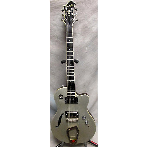 Hagstrom D2H Hollow Body Electric Guitar Silver Sparkle