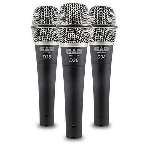 CadLive D38 Supercardioid Dynamic Handheld Microphones (3-Pack)-thumbnail