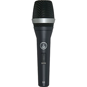 AKG D5 S Supercardioid Dynamic Vocal Microphone with On/Off Switch by AKG