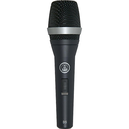 AKG D5 S Supercardioid Dynamic Vocal Microphone with On/Off Switch-thumbnail